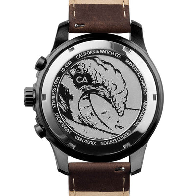 Mavericks Chrono Leather Gunmetal Brown