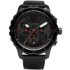 Mavericks Chrono Leather All Black Red