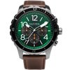 Mavericks Chrono Leather Dark Brown Green