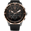 Mavericks Chrono Leather Gunmetal Rose Gold