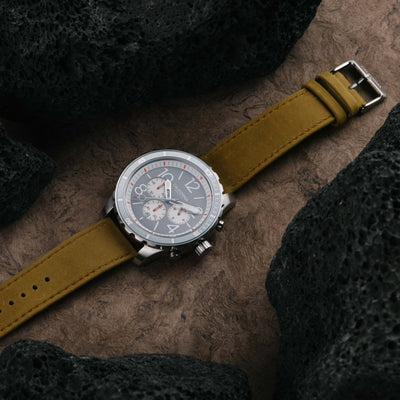 California Watch Co Mavericks Chrono Leather Sand Gray White