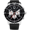 Mavericks Chrono Leather Silver Black