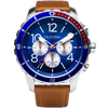 Mavericks Chrono Leather Brown Navy Red