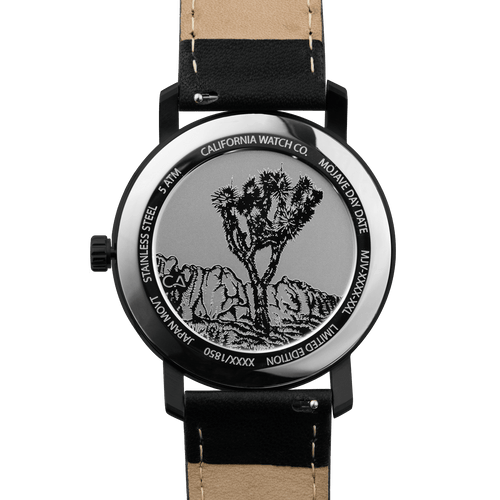 California Watch Co Mojave Leather All Black Smoke