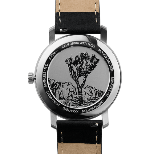 California Watch Co Mojave Leather Black Silver