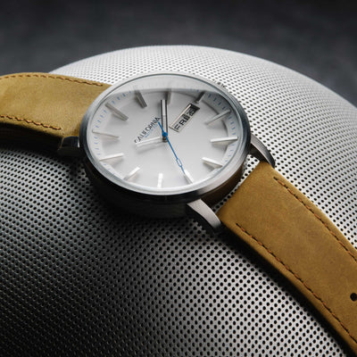 California Watch Co Mojave Leather Sand White