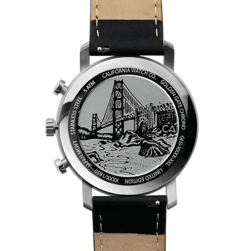 Golden Gate Chrono Leather Black Silver