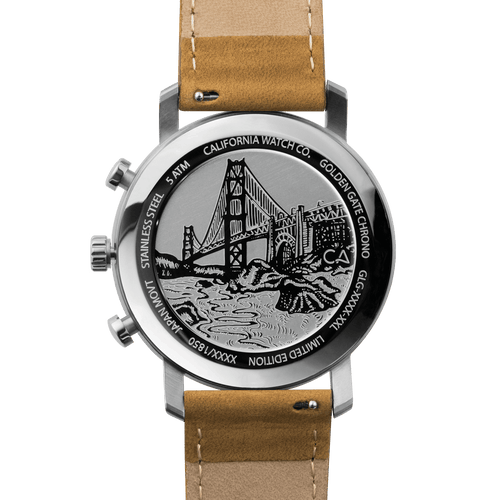 California Watch Co. Golden Gate Chrono Leather Sand White main
