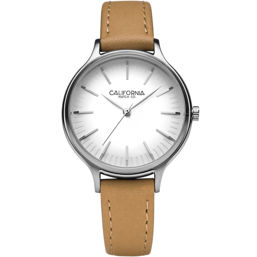 Laguna 34 Leather Natural White California Watch Co