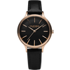 Laguna 34 Leather Rose Gold Black