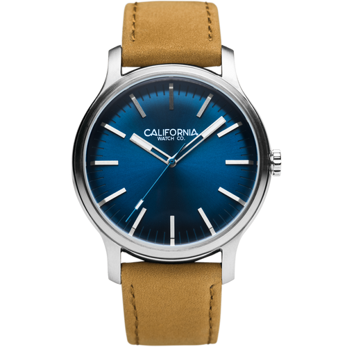 Laguna 40 Leather Sand Navy California Watch Co