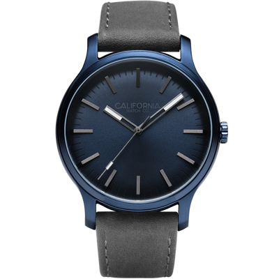 Laguna 40 Leather Deep Blue Gray Duplicate California Watch Co