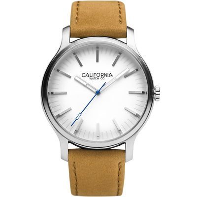 Laguna 40 Leather Sand White California Watch Co