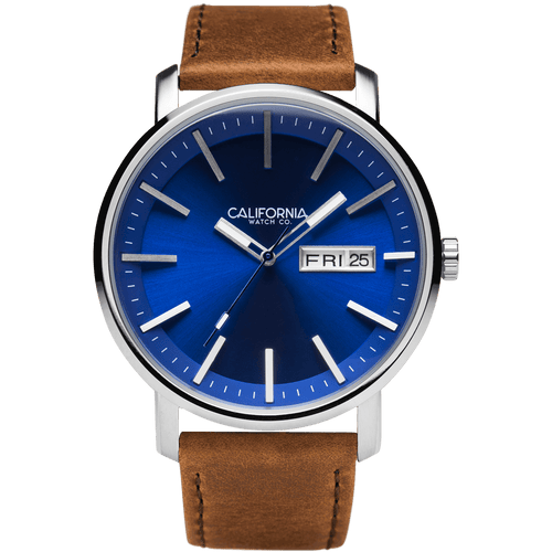California Watch Co Mojave Leather Brown Navy