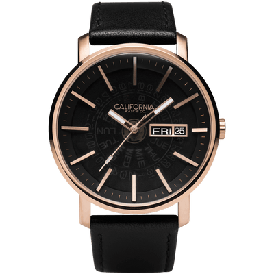 California Watch Co Mojave Leather Rose Gold Smoke