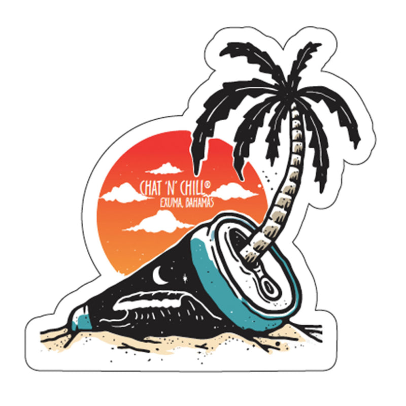 Chat 'N' Chill® Beach Party Stickers ~ 3-Pack