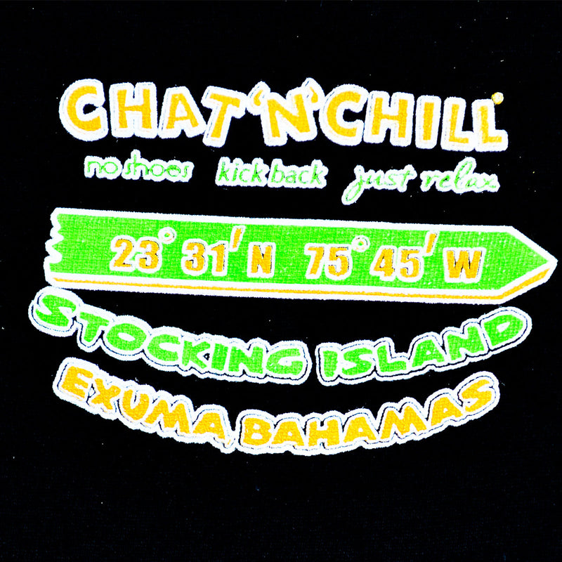 Chat 'N' Chill® Big & Tall Sign Post T-Shirt Black