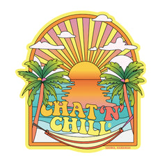 Chat 'N' Chill® Pastel Beach Scene Stickers ~ 3-Pack