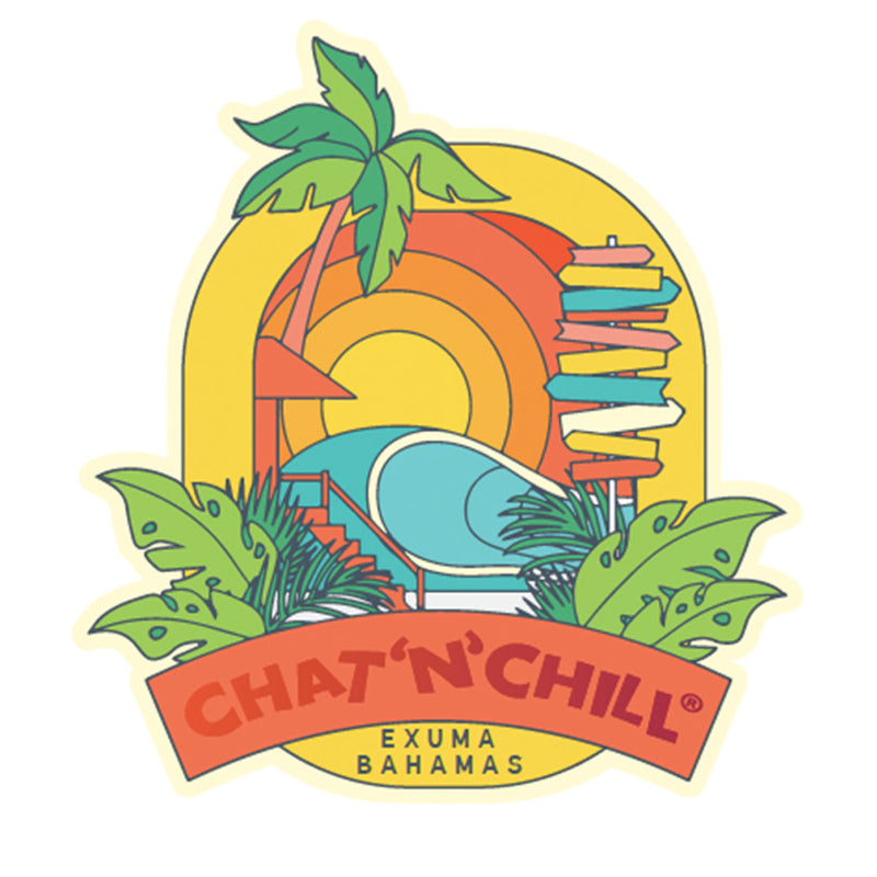 Chat 'N' Chill® Retro Stickers ~ 3-Pack