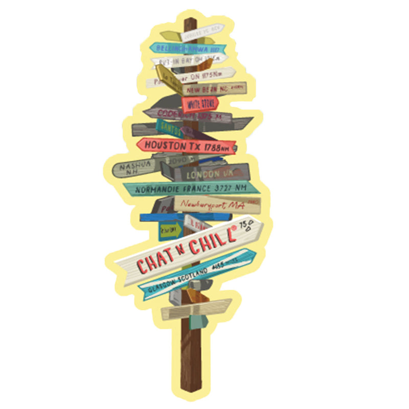 Chat 'N' Chill® Sign Post + Stingray Stickers ~ 3-Pack