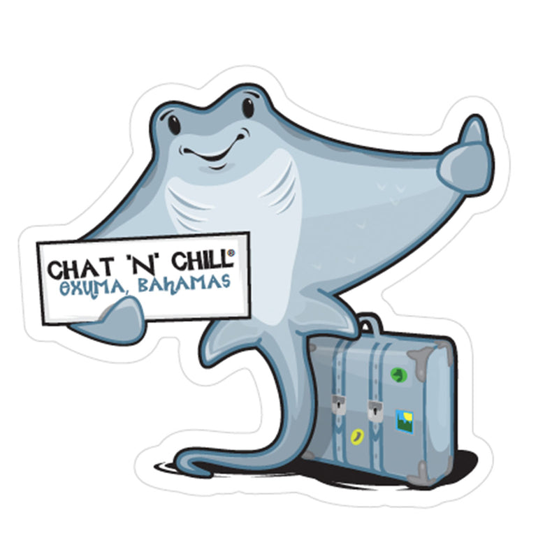 Chat 'N' Chill® Local Stingray Stickers ~ 3-Pack