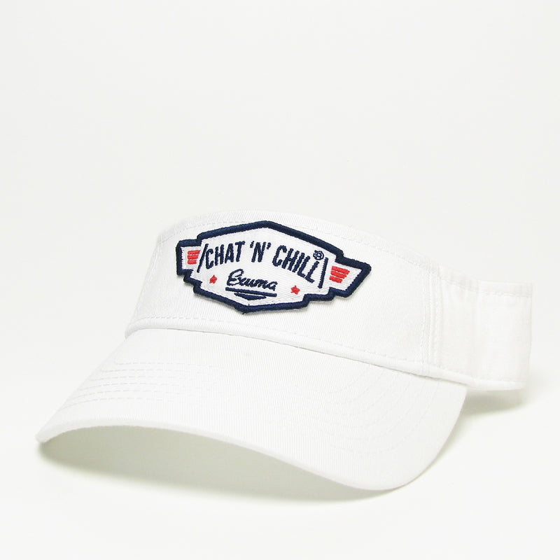 Chat 'N' Chill® Classic Visor White