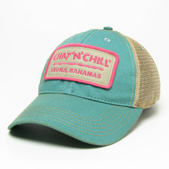 Chat 'N' Chill® Logo Plate Hat Aqua