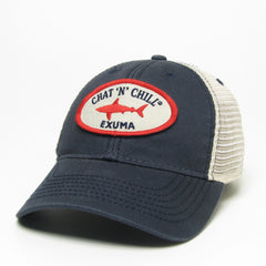 Chat 'N' Chill® Shark Hat Navy