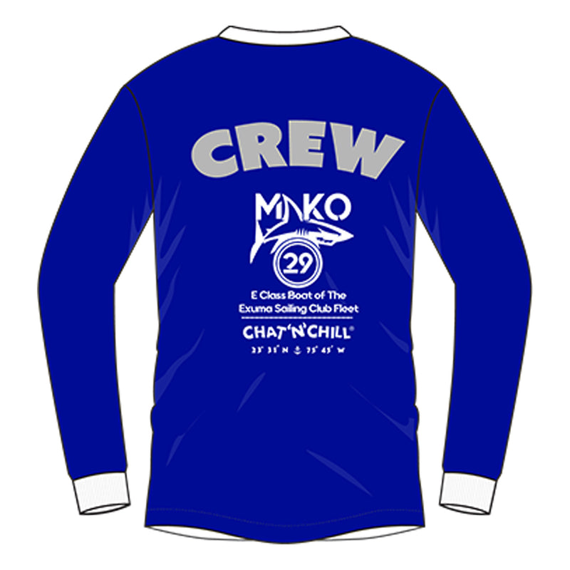 Chat 'N' Chill® Mako29 Rash Guard Royal