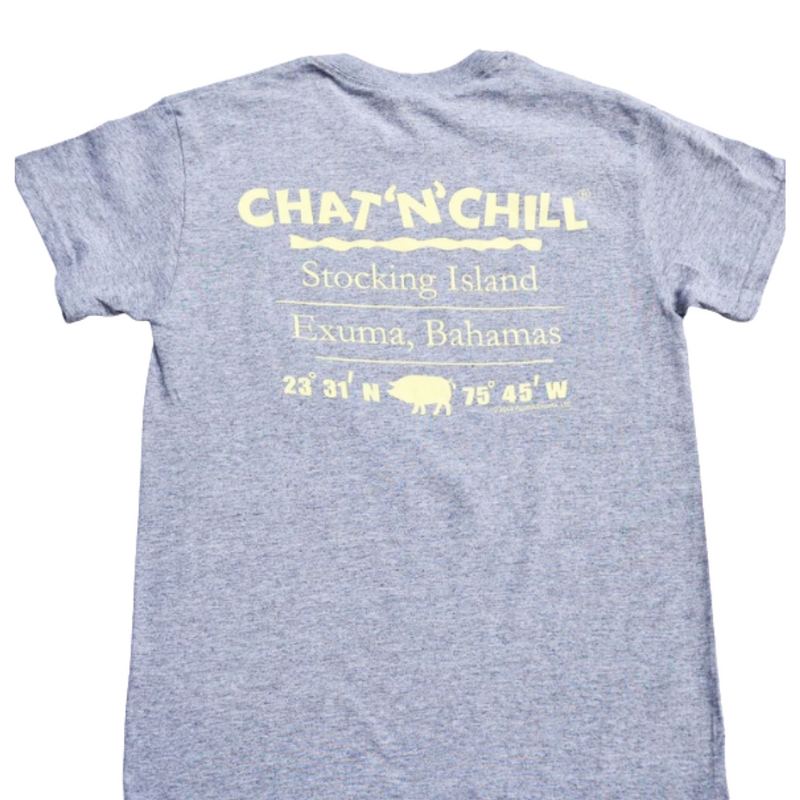 Chat 'N' Chill® Island Pig T-Shirt Grey