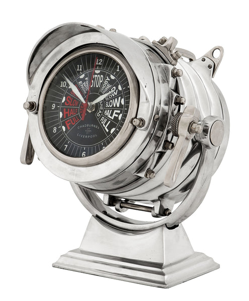 Eichholtz Clock Royal Master aluminium polished - 106562