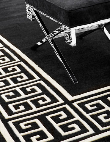 Eichholtz Carpet Apollo black & off-white 300 x 300 cm - 108537