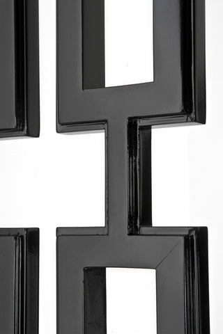 Eichholtz Folding Screen Geometric black finish - 109436