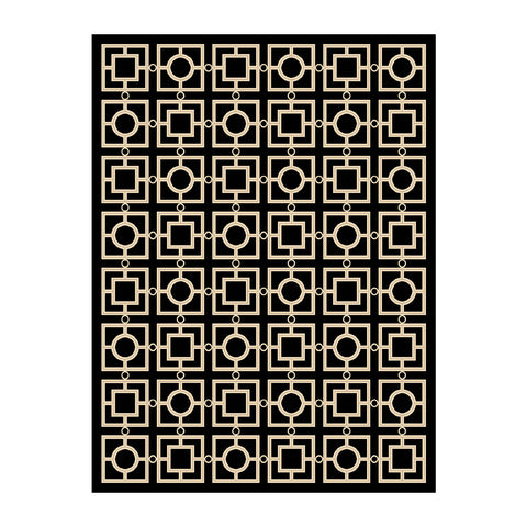 Eichholtz Carpet Evans black 3x4m - 109768