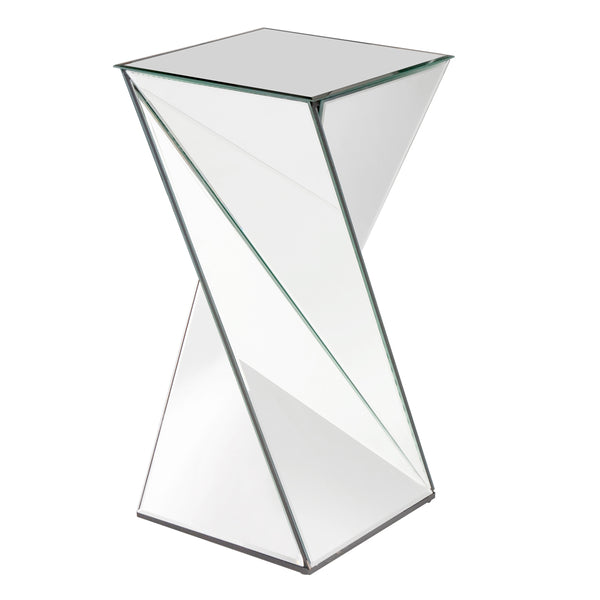 Stately Living Room End Table Howard Elliott Aries Twisted Mirrored End Table