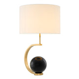 Table Lamp Luigi Gold Finish Incl Shade