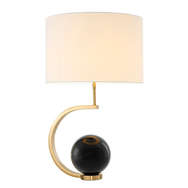 Eichholtz Table Lamp Luigi gold finish incl shade - 111037