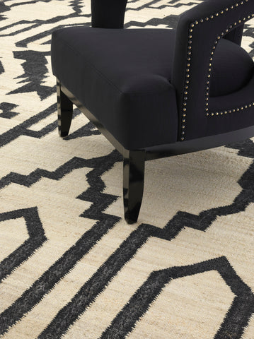 Eichholtz Carpet Alhambra natural/ black 300 x 400 cm - 111710