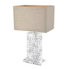 Table Lamp Contemporary Incl Natural Linen Shade