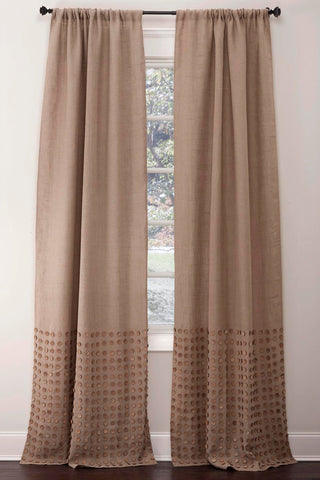 Stately Window Treatments Emdee Drapery Burlap Button Natural 11836-N