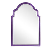 Stately Wall Décor Mirror Howard Elliott Sultan Glossy Royal Purple Mirror