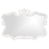 Stately Wall Décor Mirror Howard Elliott Talida White Mirror