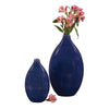 Stately Table Top Vase & Urn Howard Elliott Cobalt Blue Glaze Ceramic Vases - Set of 2
