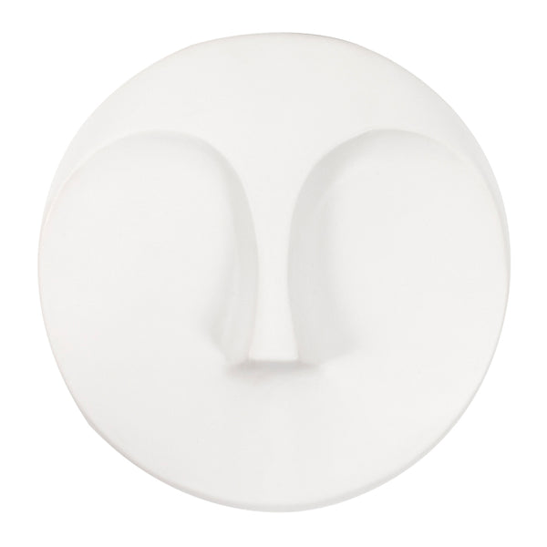 Stately Wall Décor Wall Object Howard Elliott Matte White Round Face Wall Sculpture