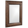 Stately Wall Décor Mirror Howard Elliott Grant Antique Brown Mirror