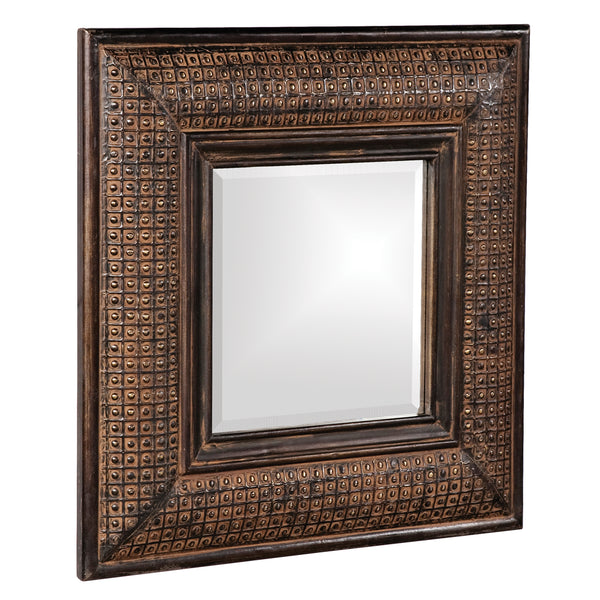 Stately Wall Décor Mirror Howard Elliott Grant Antique Brown Square Mirror