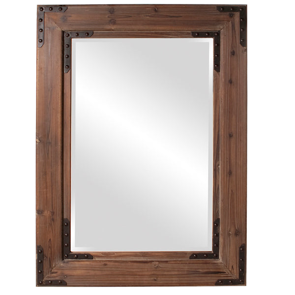 Stately Wall Décor Mirror Howard Elliott Caldwell Wood Mirror
