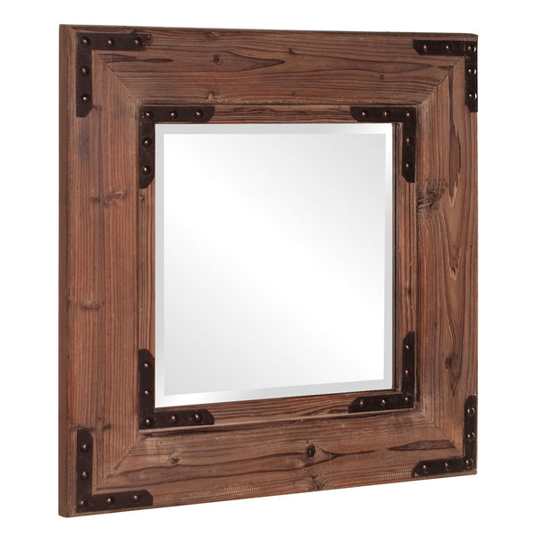 Stately Wall Décor Mirror Howard Elliott Caldwell Square Wood Mirror