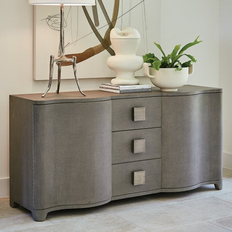 Global Views Toile Linen Credenza-Grey 7.20157