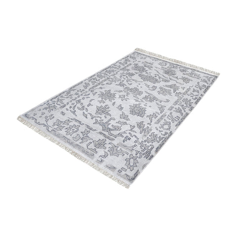 The Gables Harappa Handknotted Wool Rug In Grey - 9ft x 12ft - 8905-273